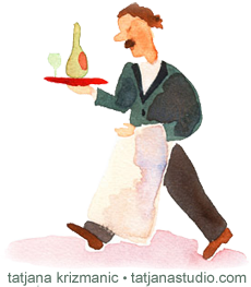 waiter by tatjana krizmanic