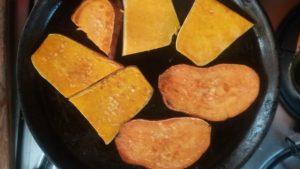Pan Fried Sweet Potato and Butternut Squash